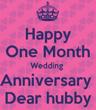 1 Month Anniversary Paragraph For Husband