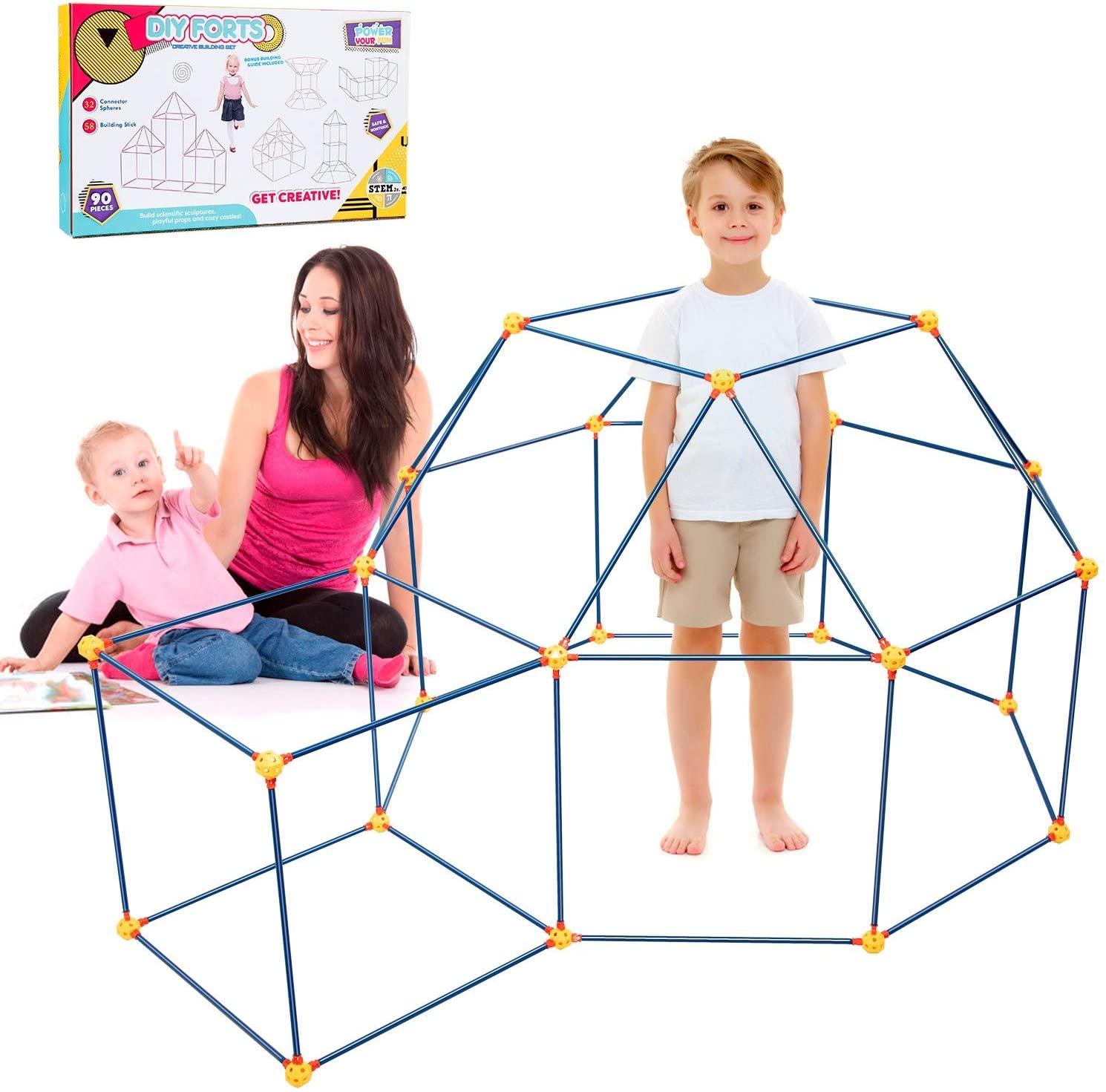 Kids Building Fort