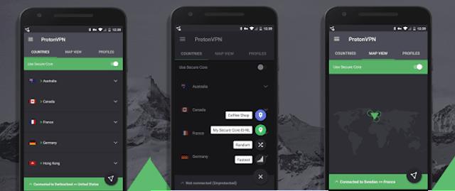 protonVPN-app