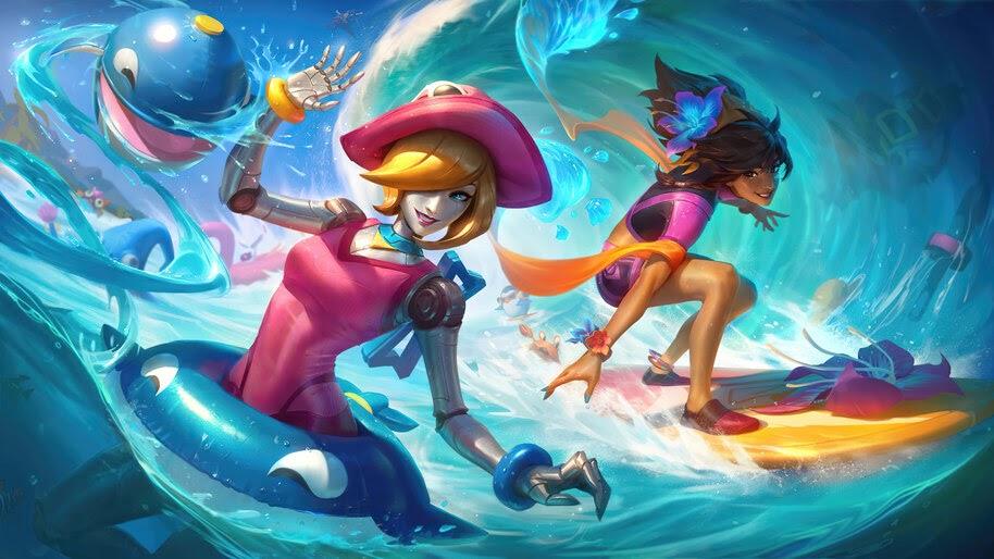 Pool Party, Orianna, Splash Art, 8K, #3.2136