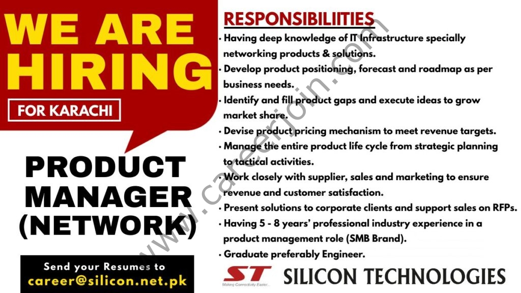 Silicon Technologies Jobs 2021 in Pakistan