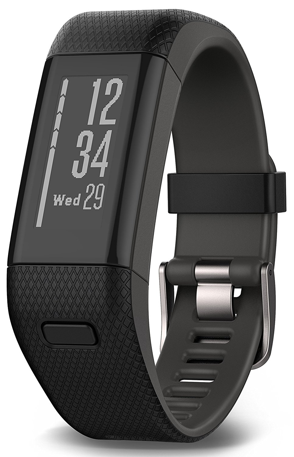 Garmin Vivosmart HR+ Fitness Band GPS con Schermo Touch, Smart Notification e Monitoraggio Cardiaco al Polso