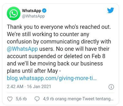 Tweet Whatsapp