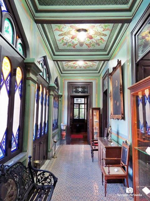 Vista de Corredor interno do Museu do Tribunal de Justiça - Centro - São Paulo