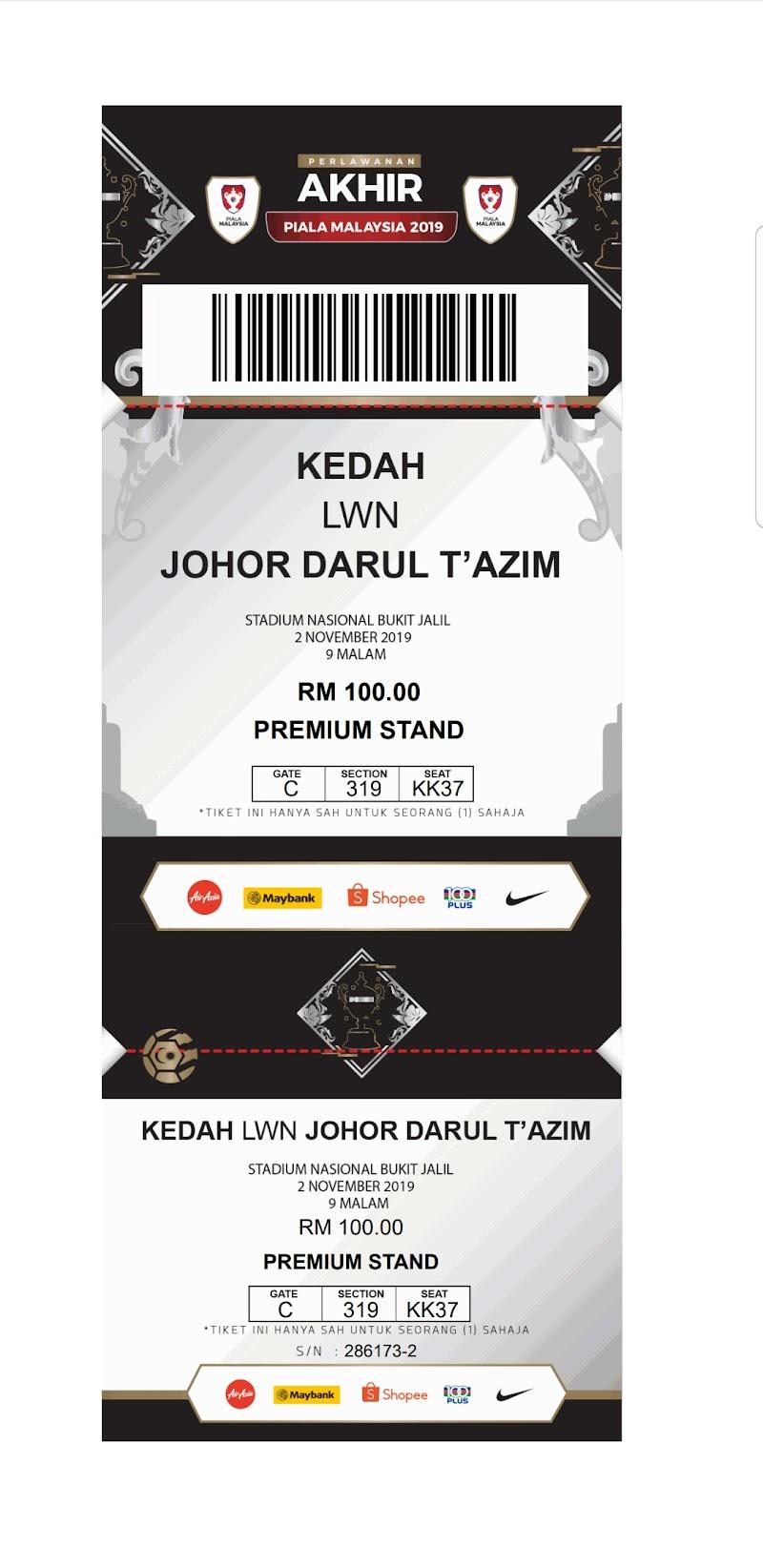 Final Piala Malaysia 2019: Tahniah JDT