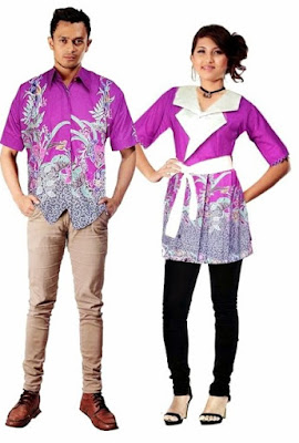 model baju batik couple pasangan