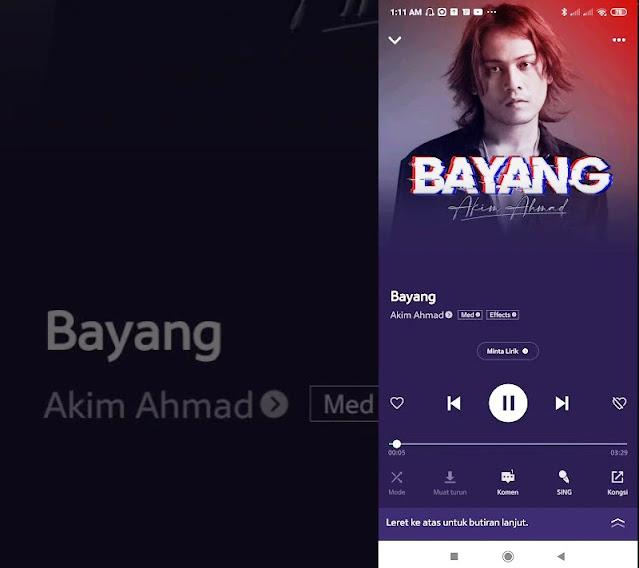 Lirik lagu Akim Ahmad Bayang