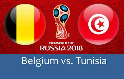 Live Streaming Belgium vs Tunisia Piala Dunia 23.6.2018