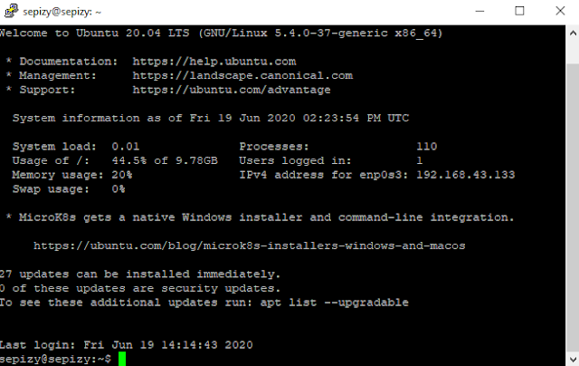 Install SSH Ubuntu Server 20.04