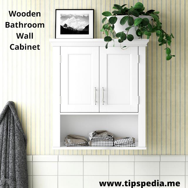 wooden bathroom wall cabinet