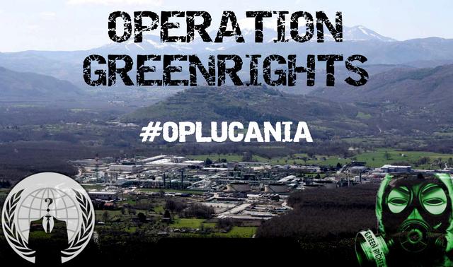 Gli Anonymous attaccano i database della Regione Basilicata per denunciare l'inquinamento petrolifero #OpGreenRights