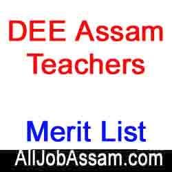 DEE Assam LP UP Teacher Merit List 2020