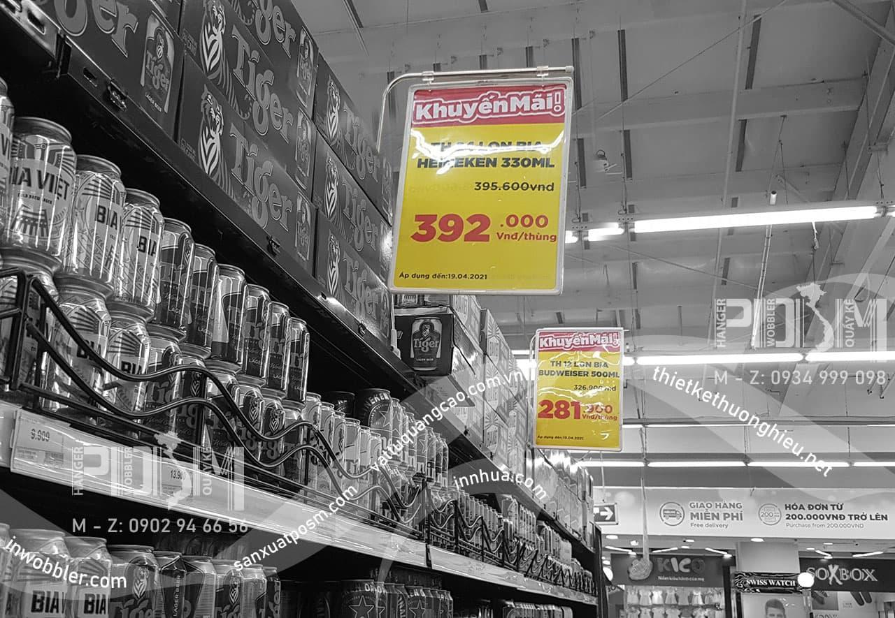bảng giá siêu thị có nam châm