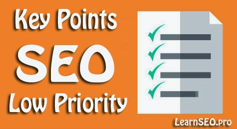 low seo key points