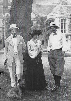 Gordon Woodhouse, Violet Gordon-Woodhouse, Bill Barrington shortly after creating a menage a trois