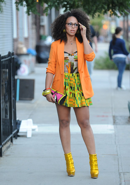 Elle Varner radiates the unabashed brilliance and boldness of the Kente cloth Kente Symbolism