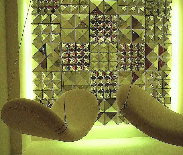 Verner Panton design, an ultra modern interior in green