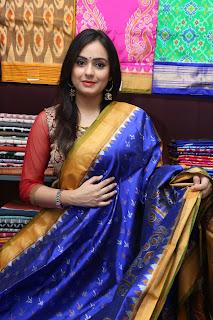 Actress Priyansha Dubey Inaugurates Pochampally IKAT art mela @ Secundrabad