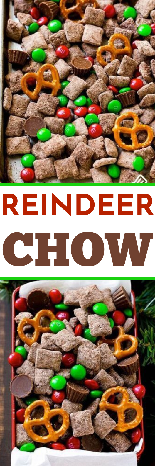 Reindeer Chow #desserts #christmas #snacks #partyfood #holiday