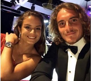 Stefanos Tsitsipas With His Girlfriend Maria Sakkari