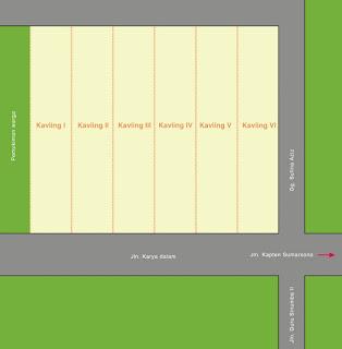 Site Plan Perumahan Signature Residence Jl. Karya Dalam Dekat RS Sufina Aziz dan BPJS Kesehatan Medan
