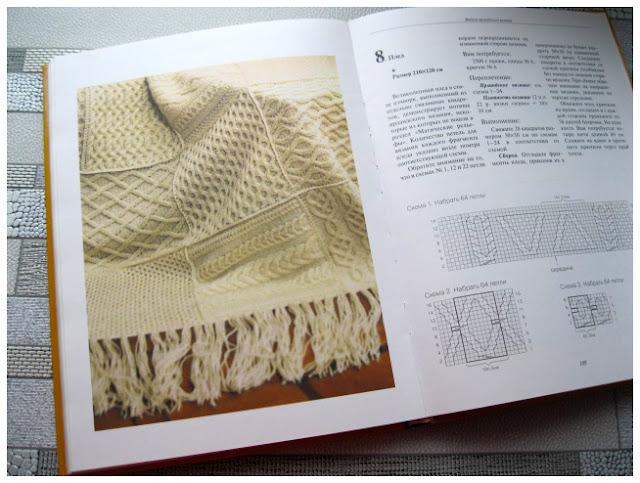 Модель пледа в технике ирландского вязания