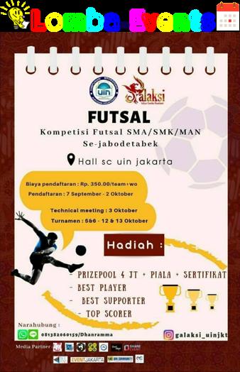Kompetisi Futsal Galaksi 2019 SMA Sederajat Se-Jabodetabek
