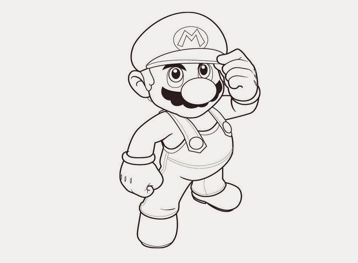 Colour Drawing Free Wallpaper: Super Mario Bros Coloring