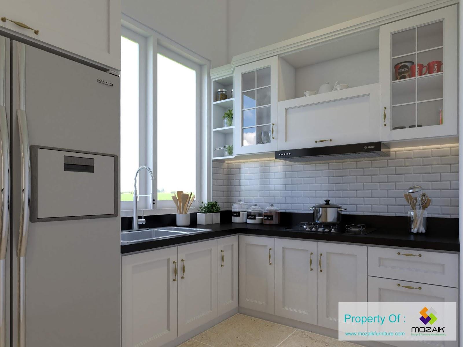 Kitchen set klasik minimalis di kramat jati jakarta timur