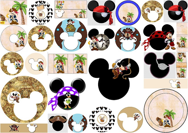 Mickey Mouse Pirate: Free Printable Candy Buffet Labels.