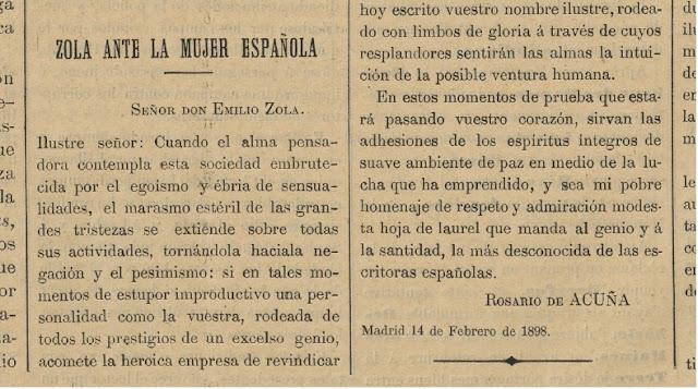 Fragmento de la carta publicada en La Campaña