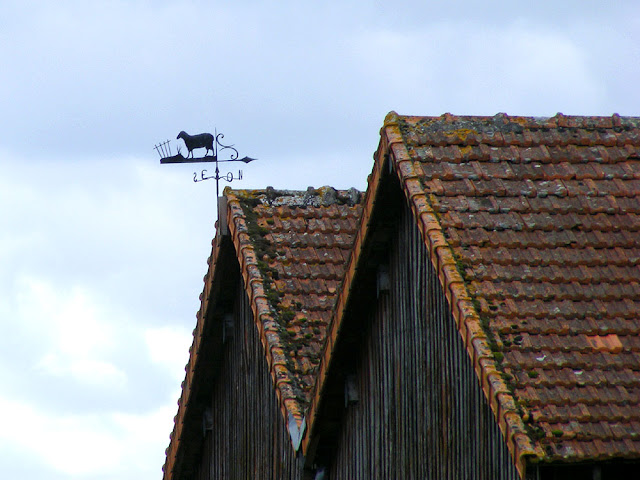 Sheep weathervane on a barn, Indre et Loire, France. Photo by Loire Valley Time Travel.