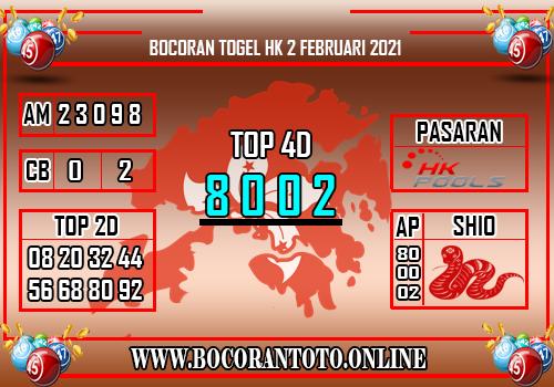 Bocoran HK 2 Februari 2021