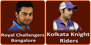 RCB Vs KKR IPL match is on 11 April 2013.