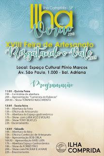 """Com abertura na quinta 11/01, a 18ª Feira Regional de  Artesanato Tradicional """"Resgatando o Vale"""" prossegue até 21/01"""