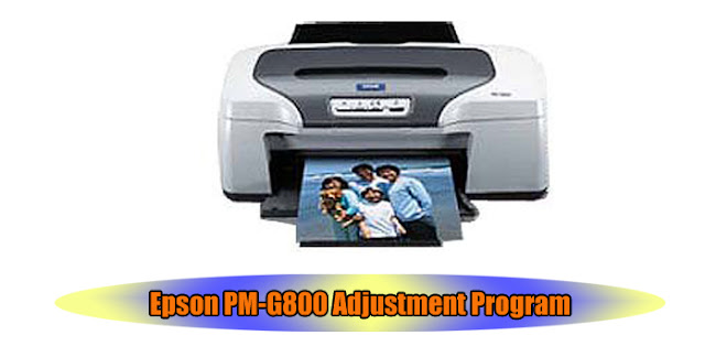 Epson PM-G800 Printer Adjustment Program