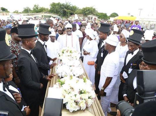 Burial photos of Dino Melaye's mum in Kogi State