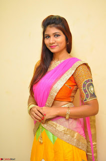 Lucky Sree in dasling Pink Saree and Orange Choli DSC 0360 1600x1063.JPG
