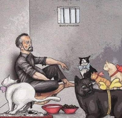 Adnan Oktar ve Kedicikleri Karikatür