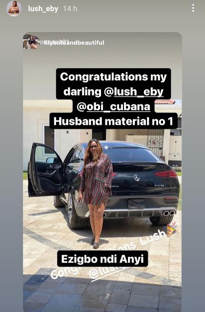 Obi Cubana gifts his wife Ebele Iyiegbu a 2021 Mercedes-Benz GLE53 (Photos)