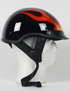 flame motorcycle helmet