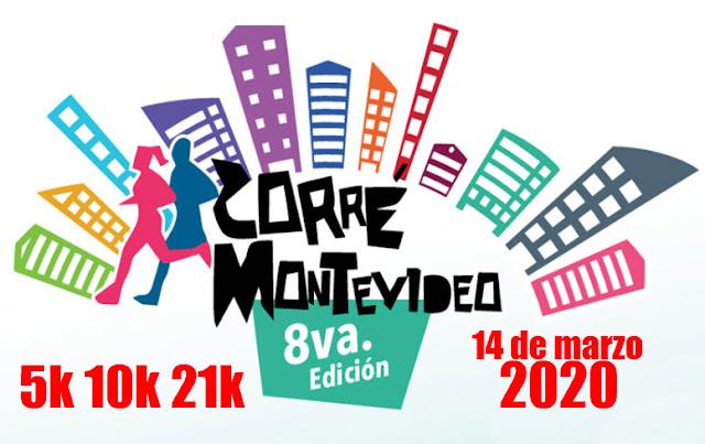 21k 10k 5k Media maratón Corré Montevideo (Kibón - Pocitos - 14/mar/2020)