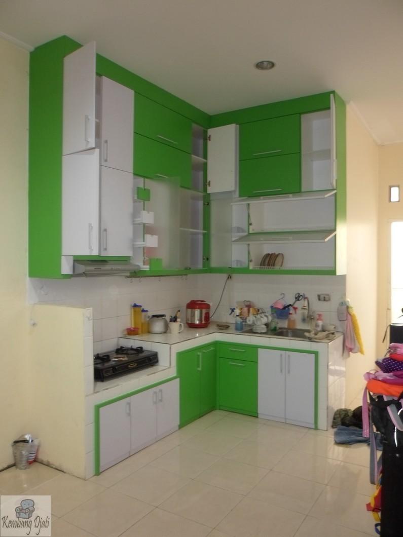 Kitchen set warna biru