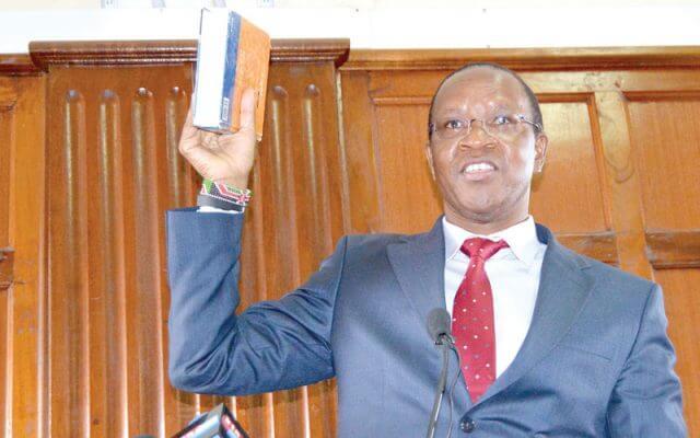 Interior PS Karanja Kibicho in Court over Huduma Namba. PHOTO | PD