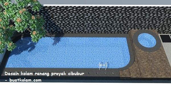 Desain kolam renang minimalis proyek cibubur
