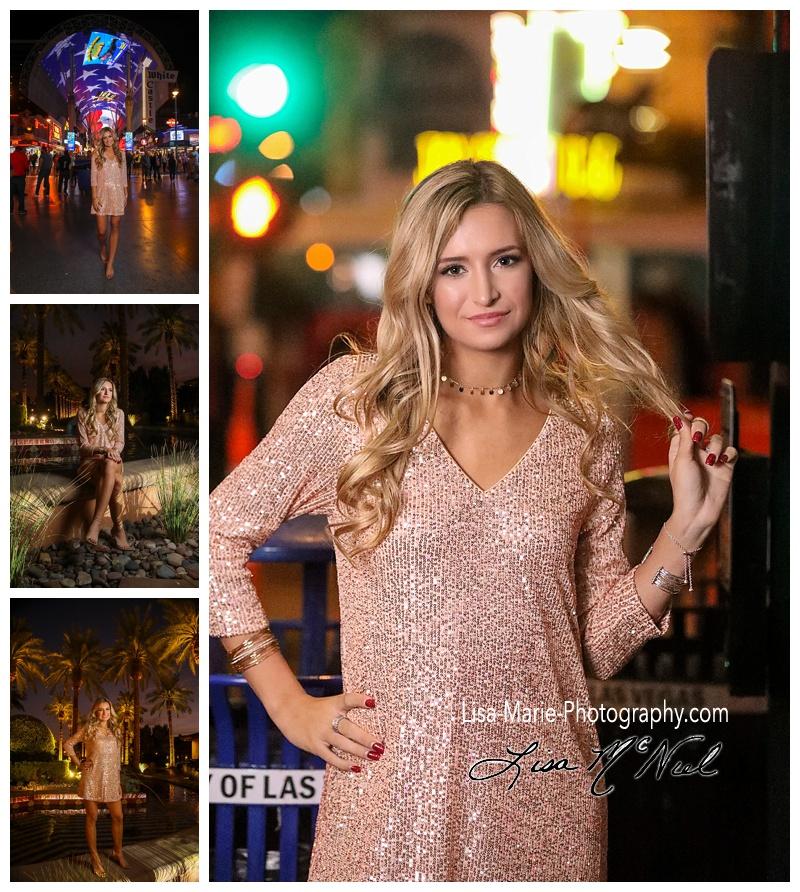 pretty teen at Freemont Street Las Vegas Nevada
