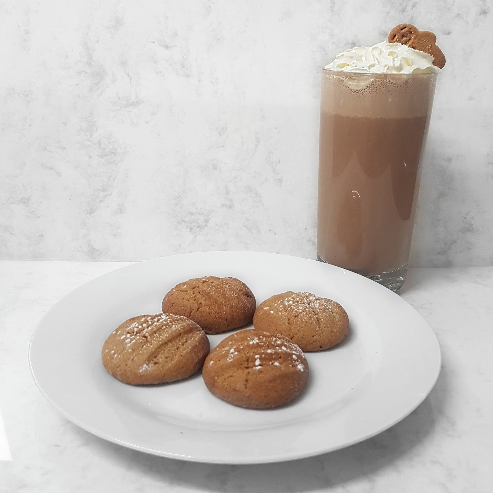 Orange Cinnamon Cookies and Frozen Gingerbread Hot Chocolate