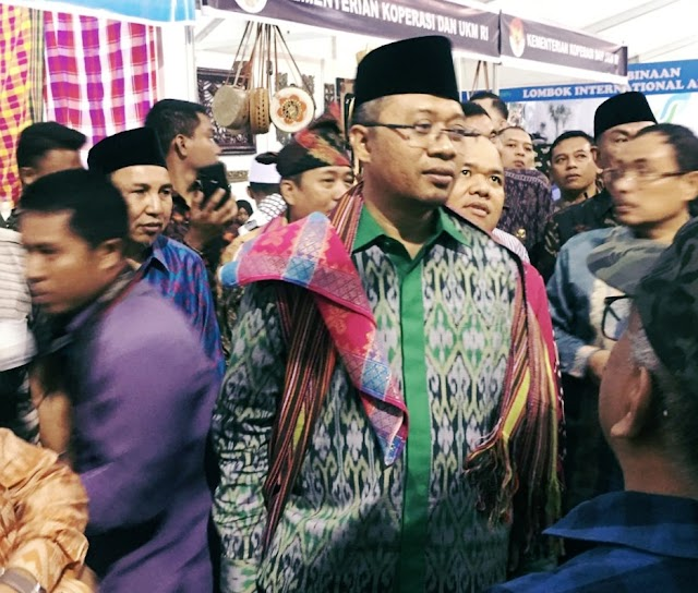 Stand DPMPTSP Kabupaten Bima Meriahkan NTB Expo 2019