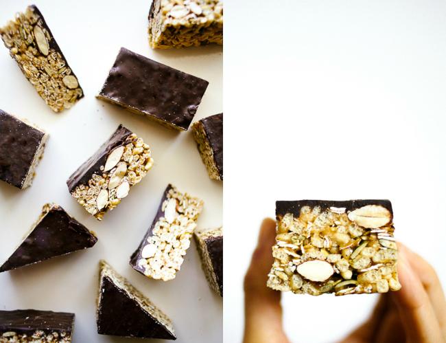 Chewy Chocolate Granola Bars