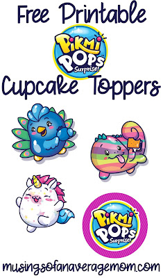 Pikmi Pops Cupcake Toppers